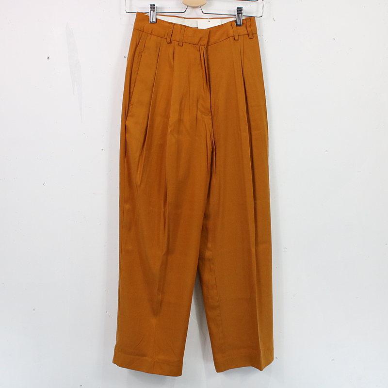 【新品】TODAYFUL / トゥデイフル   Vintagesatin Tuck Pants ヴィンテージサテンタックパンツ   36   オレンジ   レディース