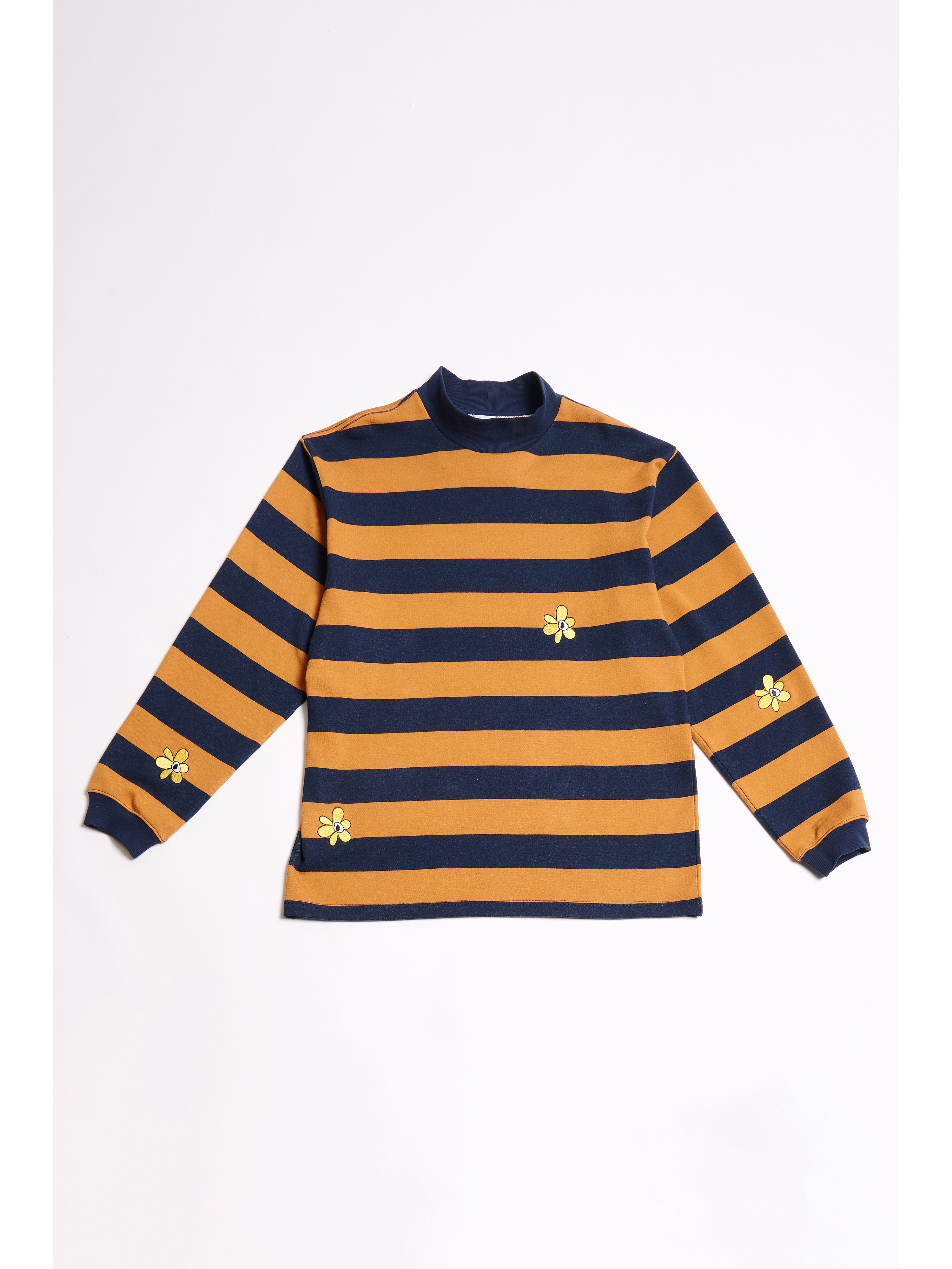 P.A.M. (Perks And Mini) / GROW WITH THE FLOW STRIPE MOCK NECK LS TOP