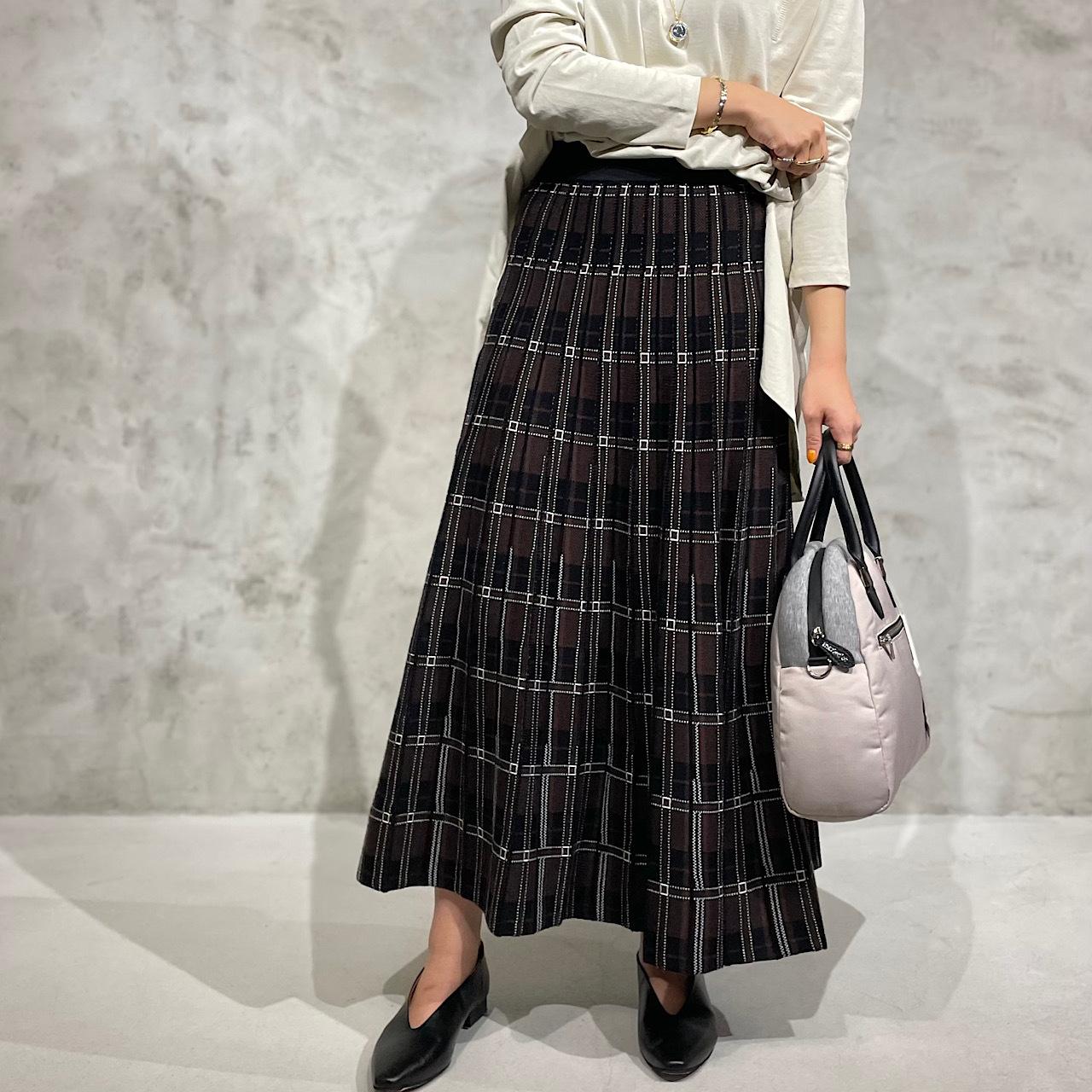 TORRAZZO DONNA/トラッツォドンナ 2WAYリバーシブルチェックニットスカート 6215-582