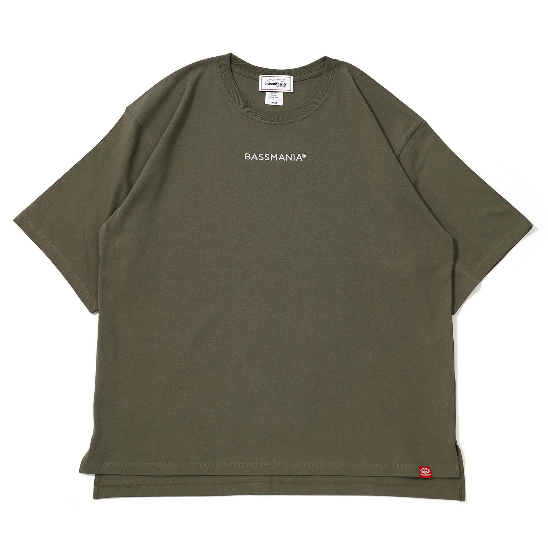 BASSMANIAロゴ刺繍ルーズシルエットTシャツ[KHA]