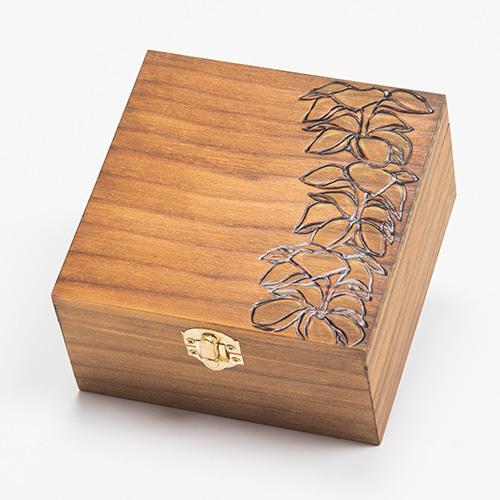 Wood box[Plumeria]【KNGD-0031】