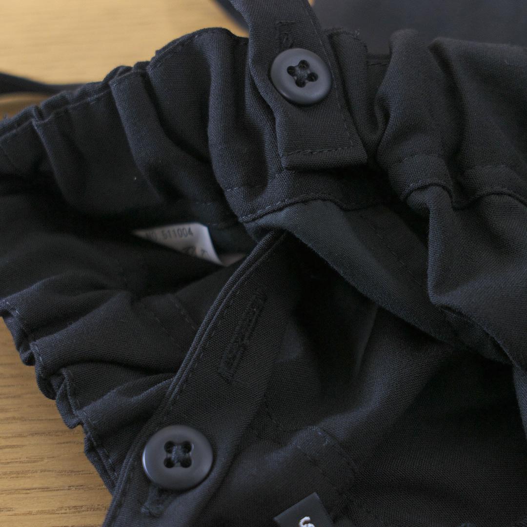 TRAVAIL MANUEL トラバイユマニュアル T/Rウェザーサスペンダーラップパンツ・ブラック