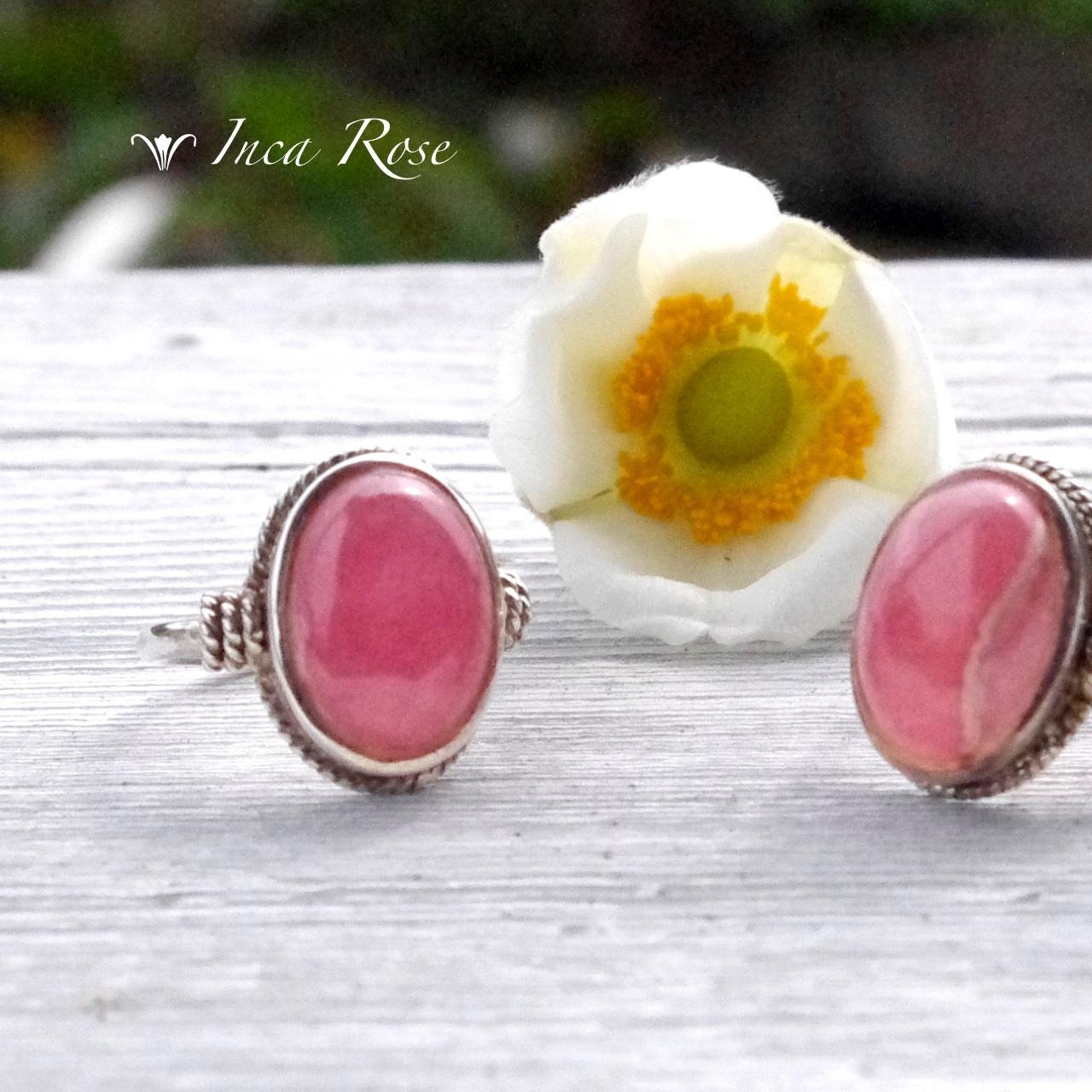 【SV925】*古代インカの薔薇色の真珠* インカローズ リング