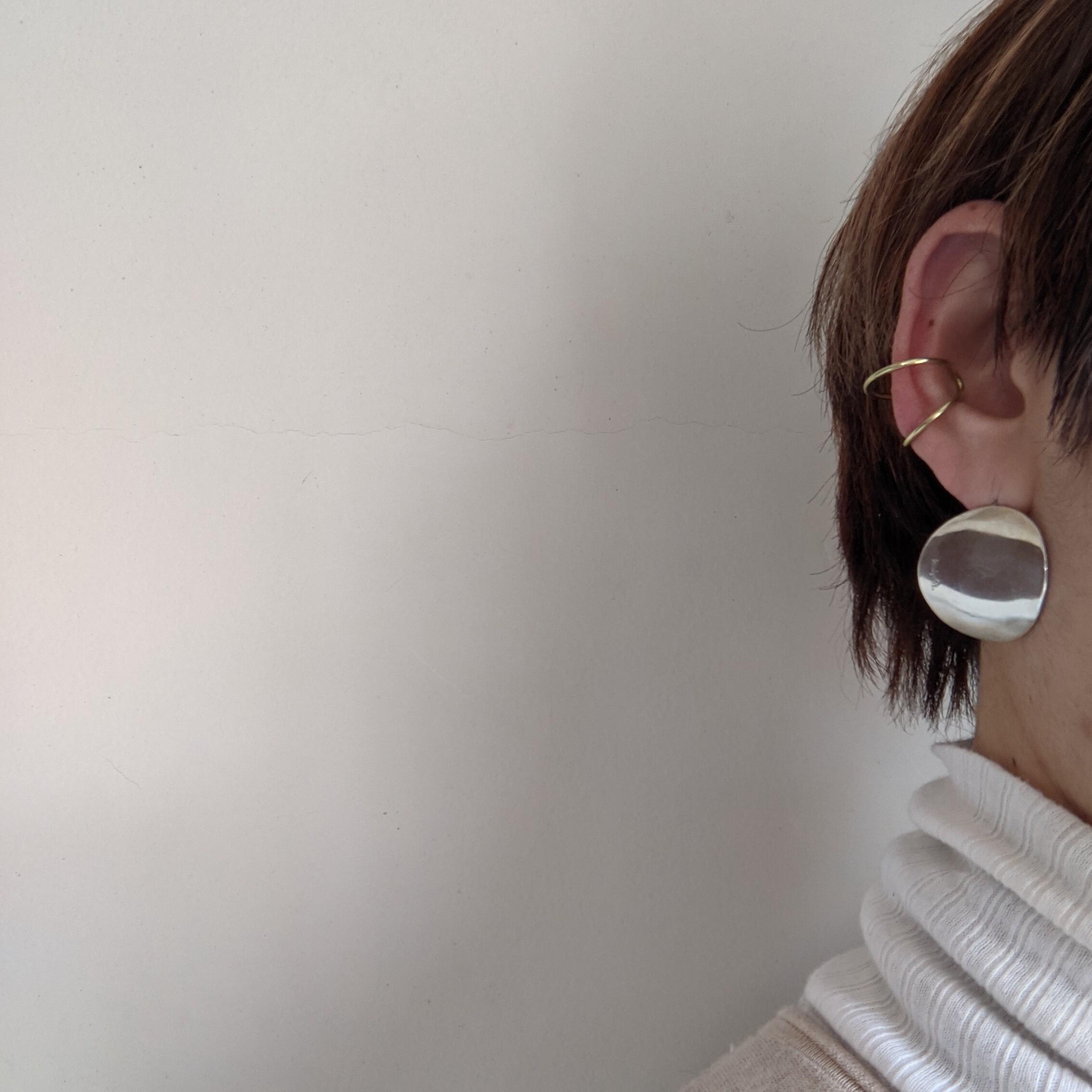 ☆片耳販売【 jomathwich 】brass earcuff / ring / E-68 Msize / 真鍮 イヤーカフ兼リング