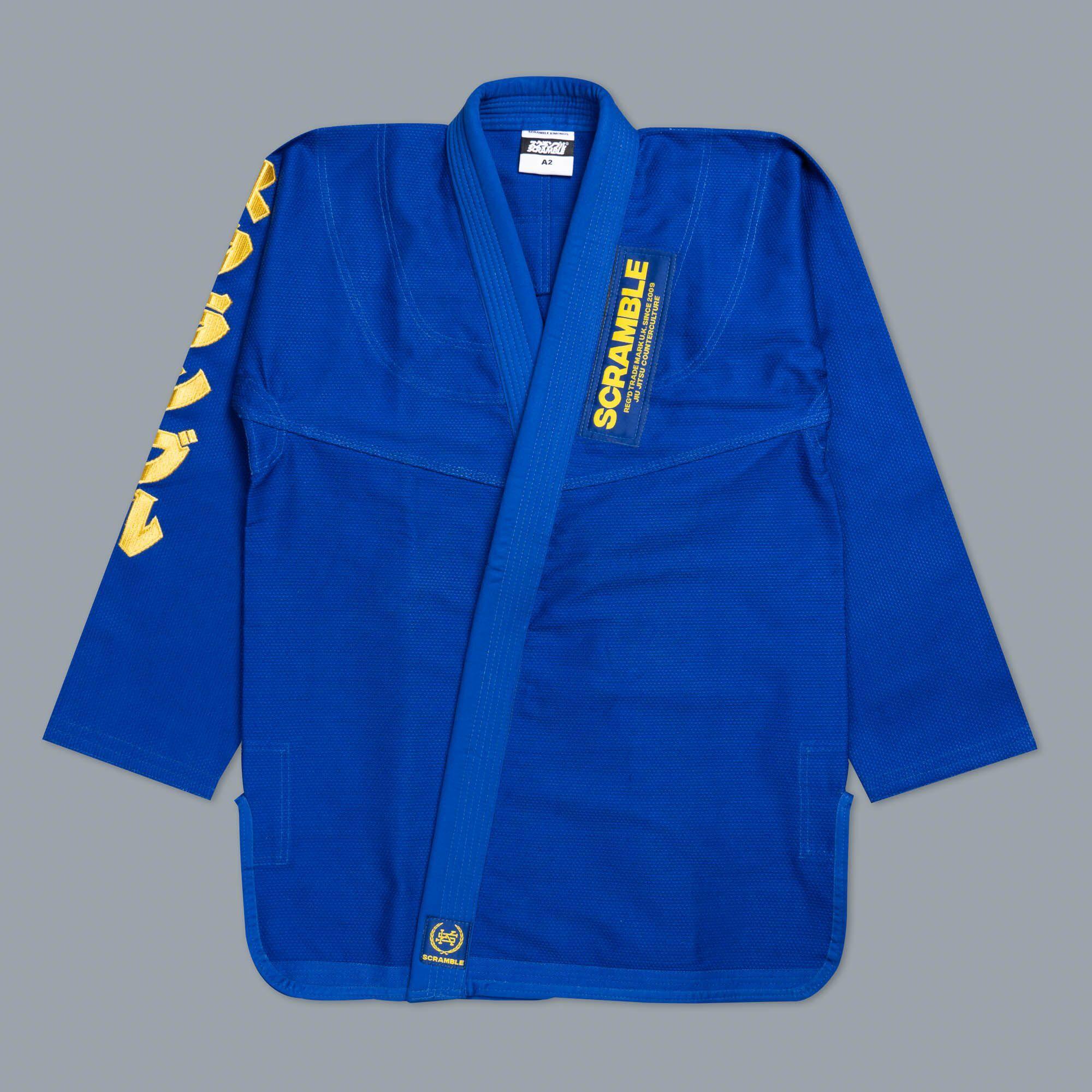 SCRAMBLE MAKOTO GI ブルー|ブラジリアン柔術着(柔術衣)