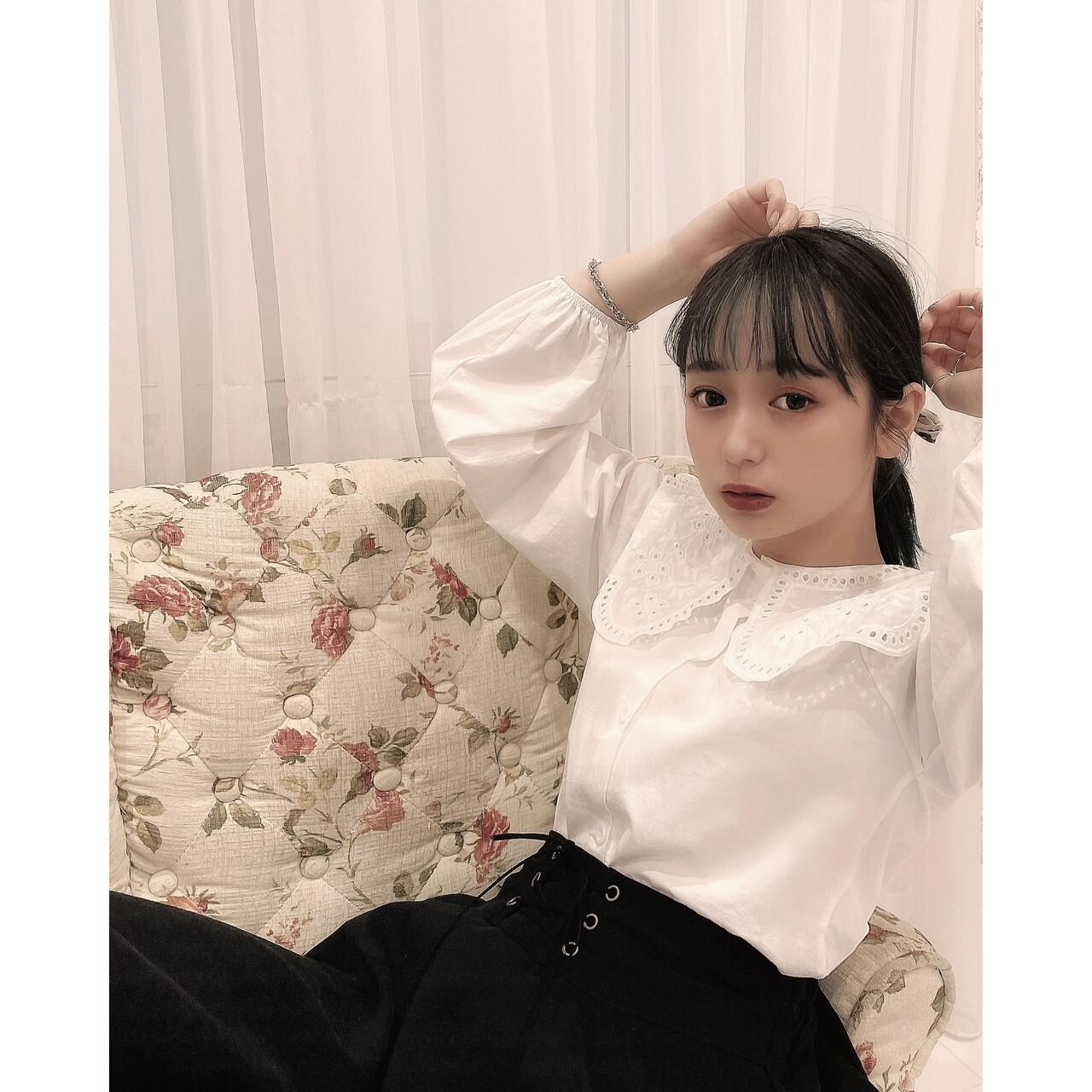 【meltie】french cotton blouse