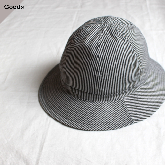 Au Vrai Chic Britain Dome Hat ヒッコリーストライプ