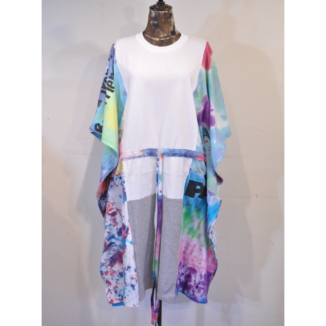 【 RehersalL 】wide Tshirt onepiece(White 1) /【リハーズオール】ワイドTシャツワンピース(ホワイト1)