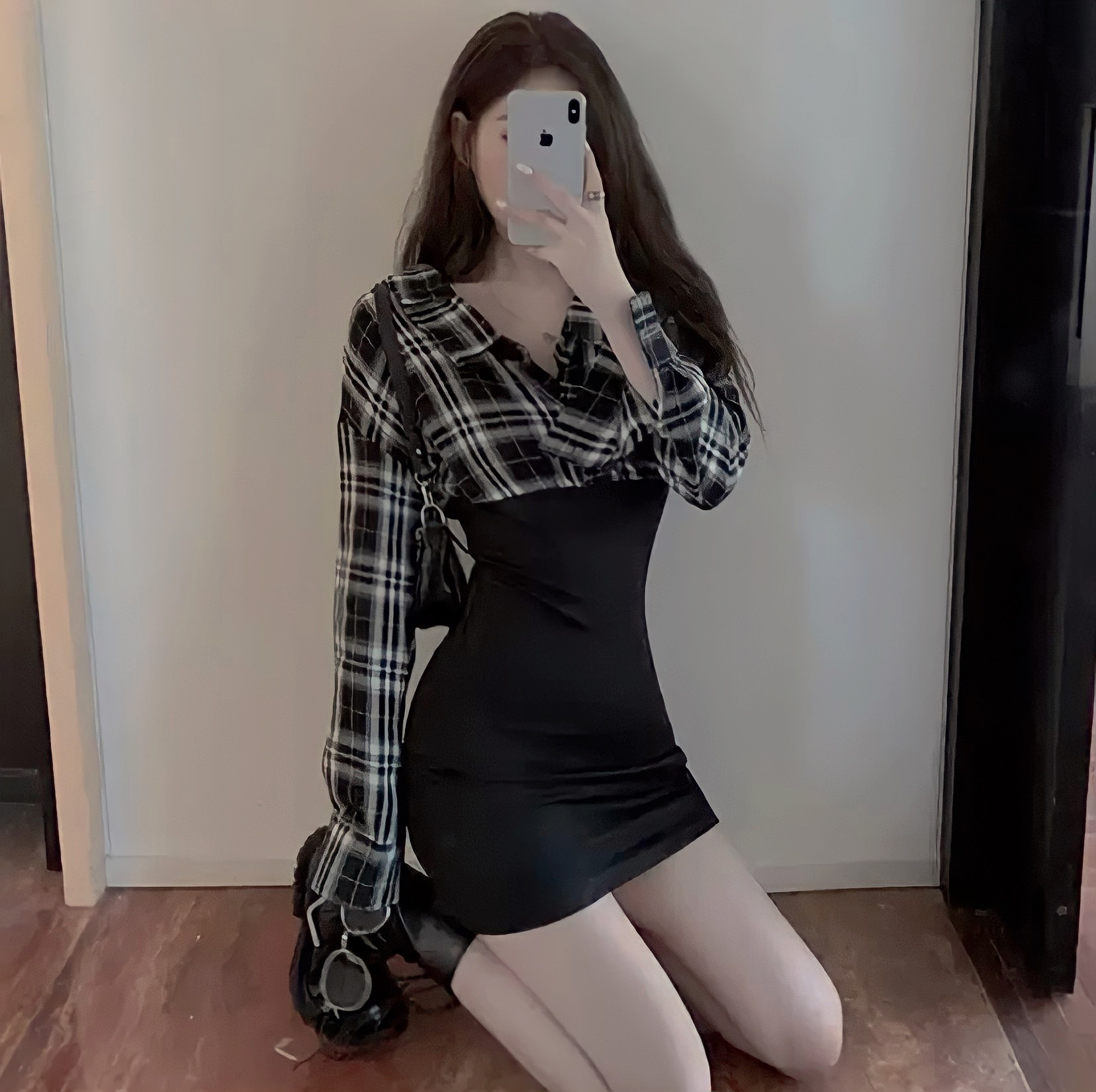 mini check dress