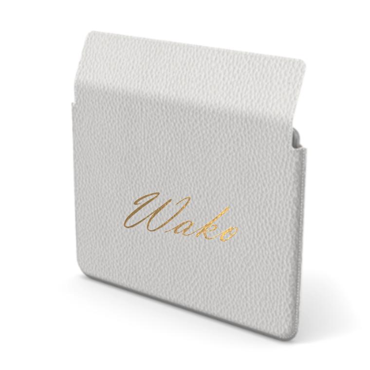 Custom Name Mac Book Premium Shrink Leather Case (Envelope Type)  (Limited/9月分数量限定)