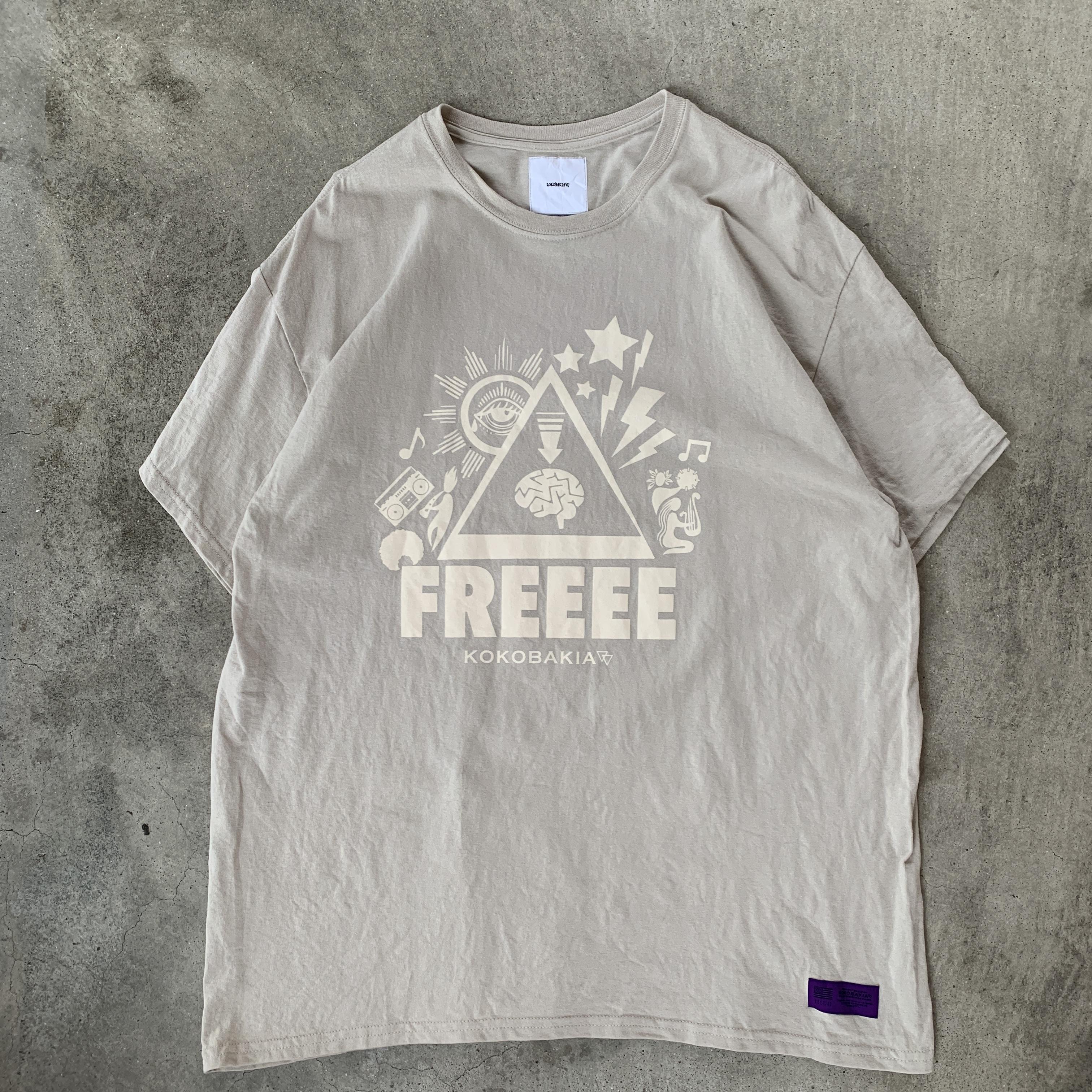 半袖 Tシャツ 復刻 FREEEE イラストTシャツ クリーム