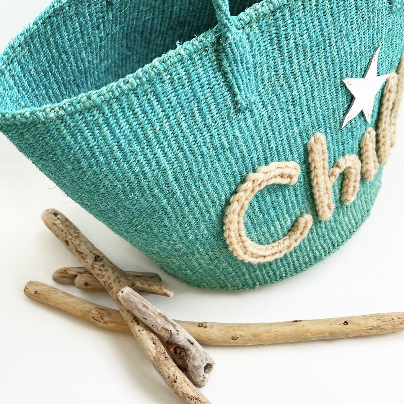 [ 限定即納 ] Big Lettered Bag / Chill  / L / turquoise green