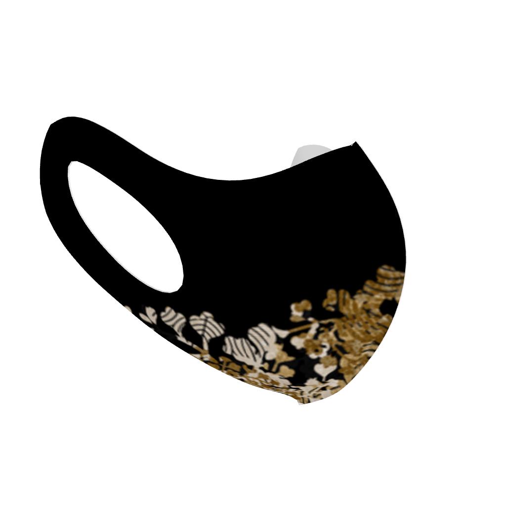 家紋装飾Gold 和柄ファッションマスク Lサイズ