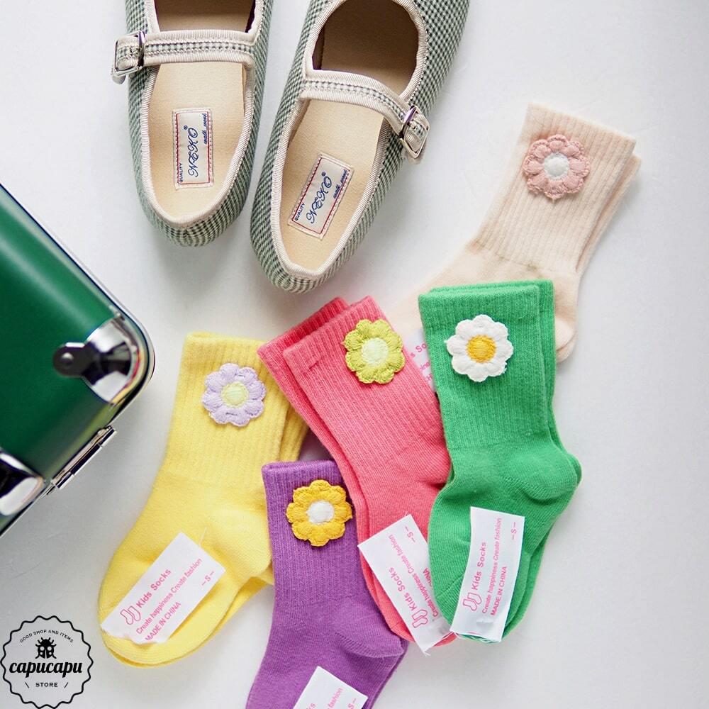 «即納» flower socks 5set フラワーソックス