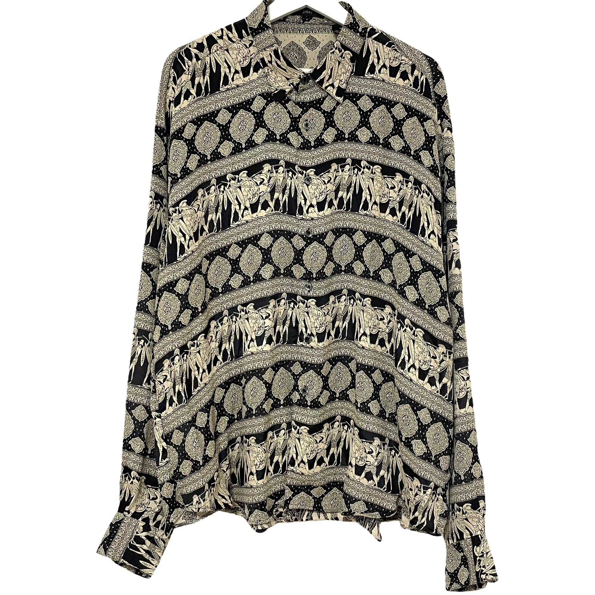 Dead Stock 90's phiz Jacquard Rayon Shirt【6】