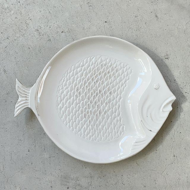 Round Plate Fish White ラウンドプレート 皿
