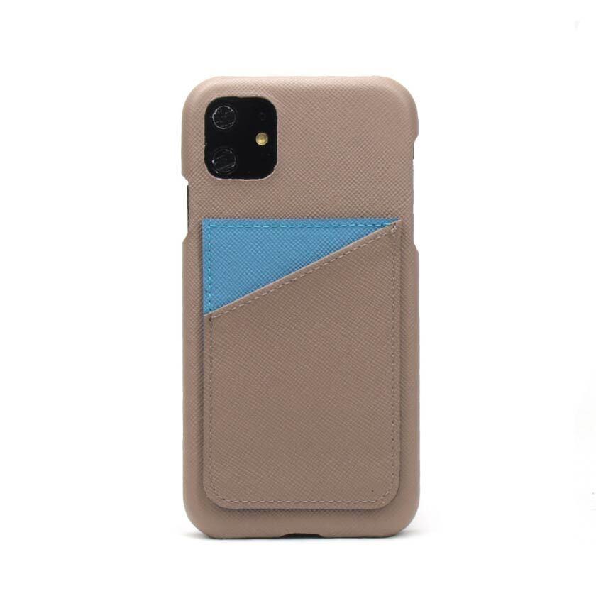 背面カード【グレージュ×サックスブルー】 iPhone / Galaxy / Xperia /  Googlepixel / Huawei