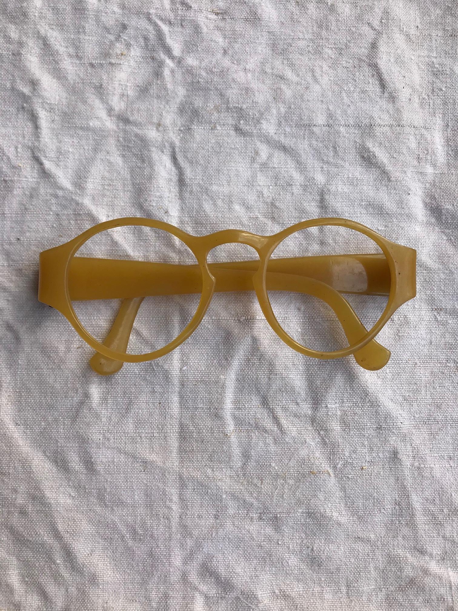 古い眼鏡フレーム セルロイド 古道具 B