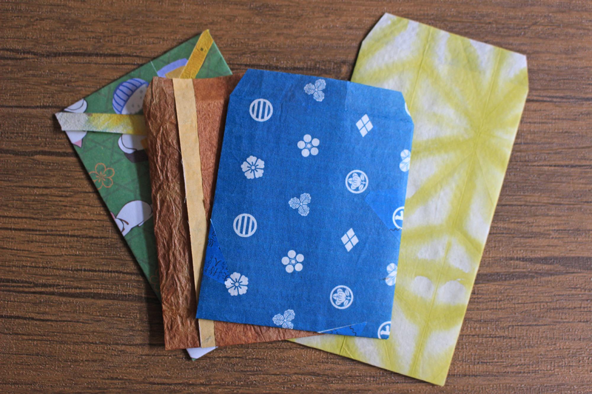 【オンラインワークショップ】簡単に和紙で作れるお守り袋+ぽち袋