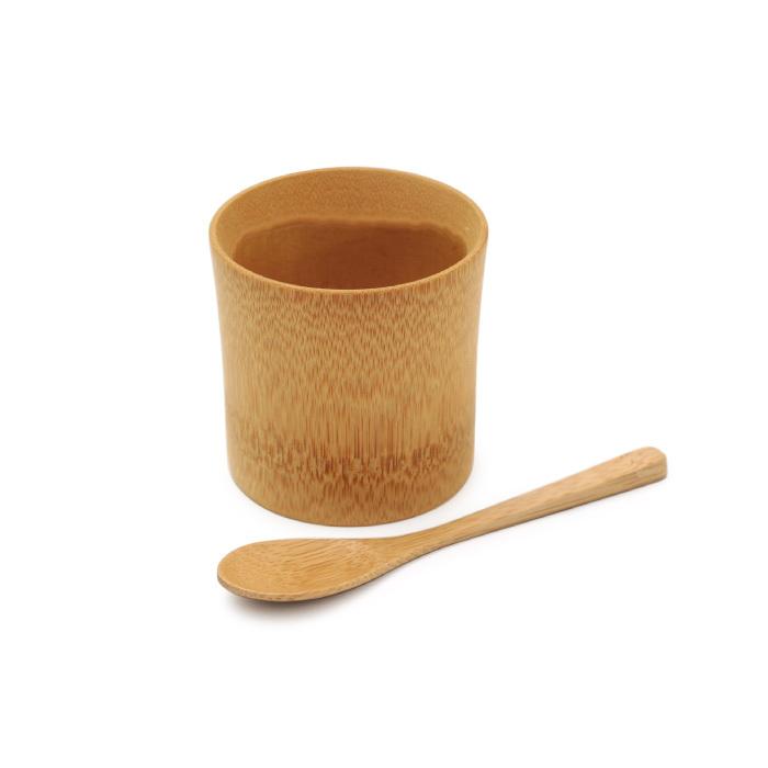 すす竹の器とスプーンセット 【60-021】