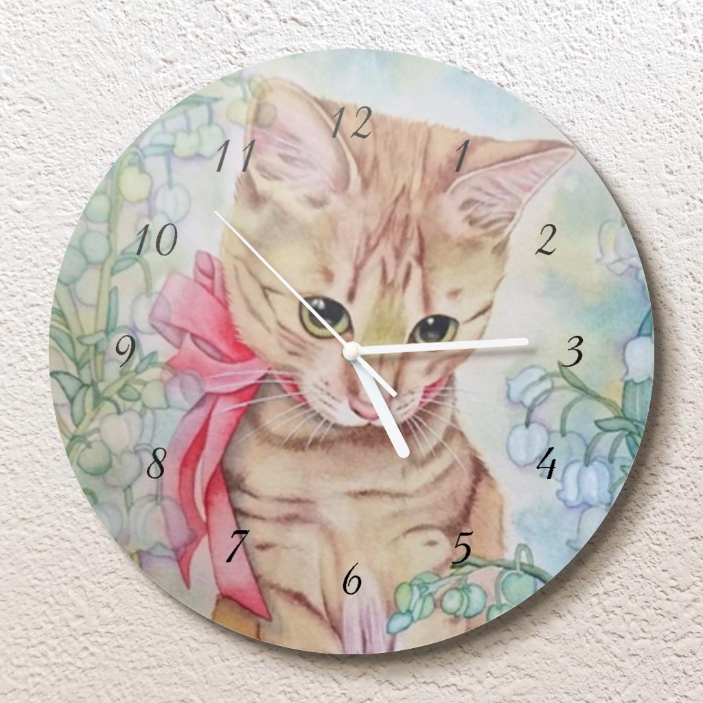 すずらんのメヌエット壁掛け時計(L)