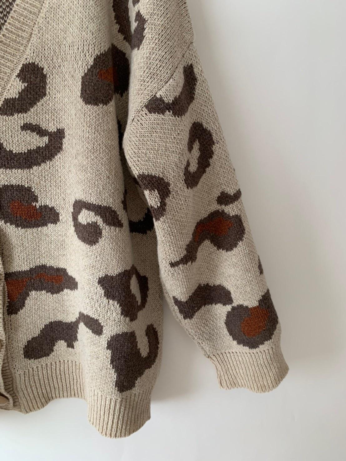 【asyu】leopard cardigan