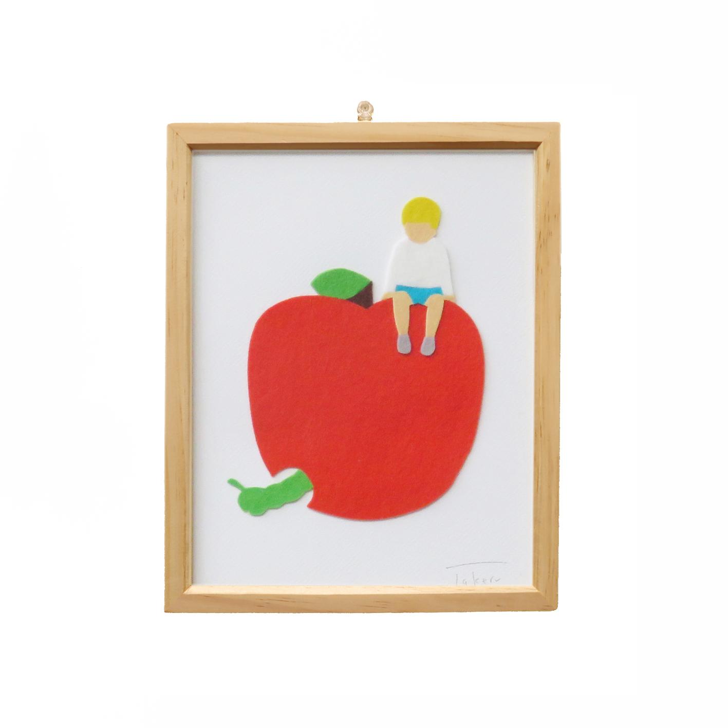 フェルトピクチャー(赤リンゴ男の子)
