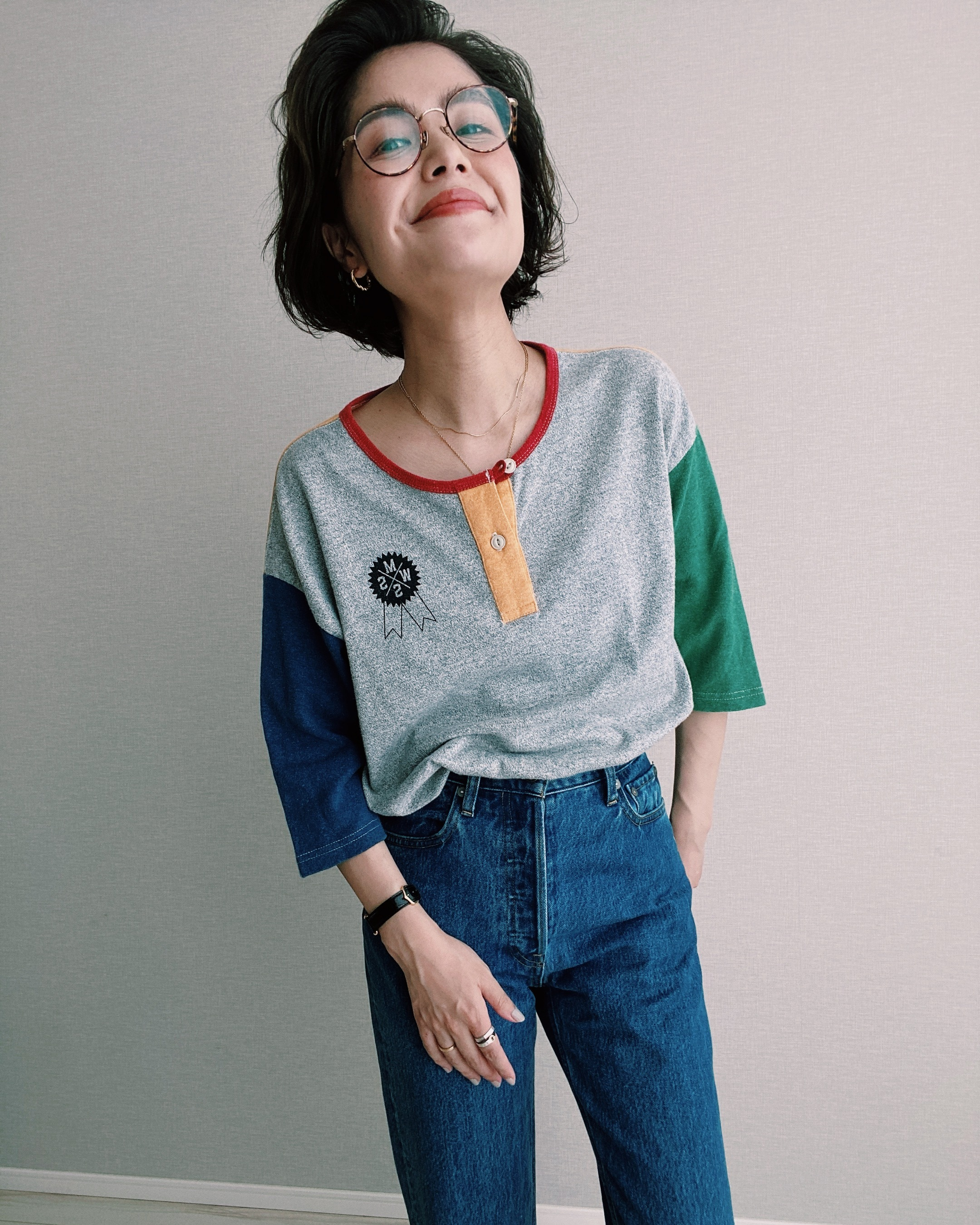 (CS277)MANASTASH multi color T-shirt