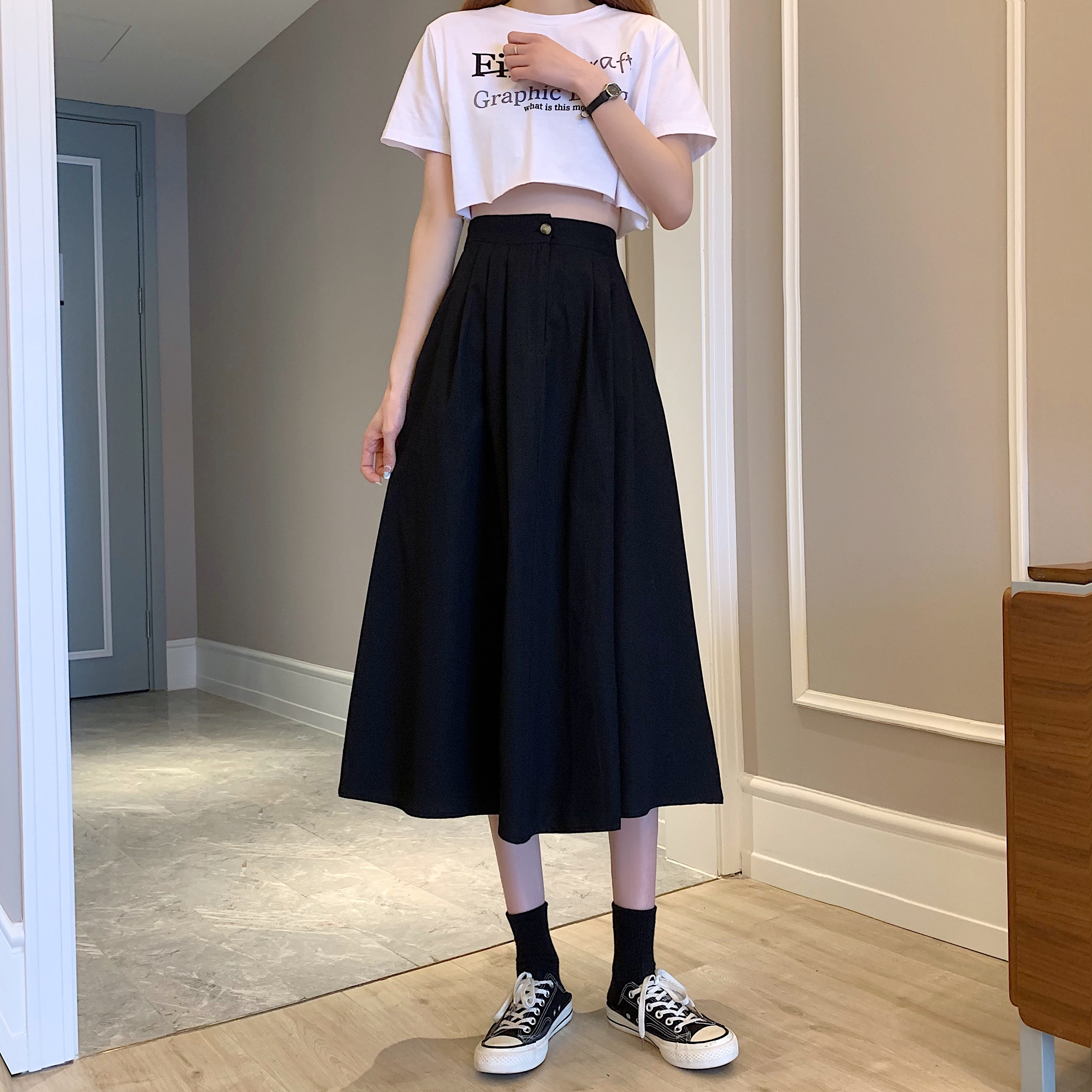 ハーフレングススカート