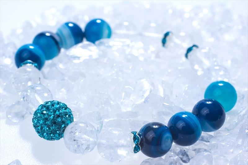Blue onyx【パワーストーンブレスレット 】 - 画像1