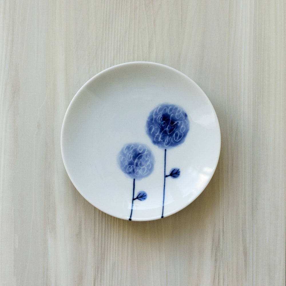 波佐見焼 WAZAN 和山窯 flowers 小皿 フラワーボール 385889