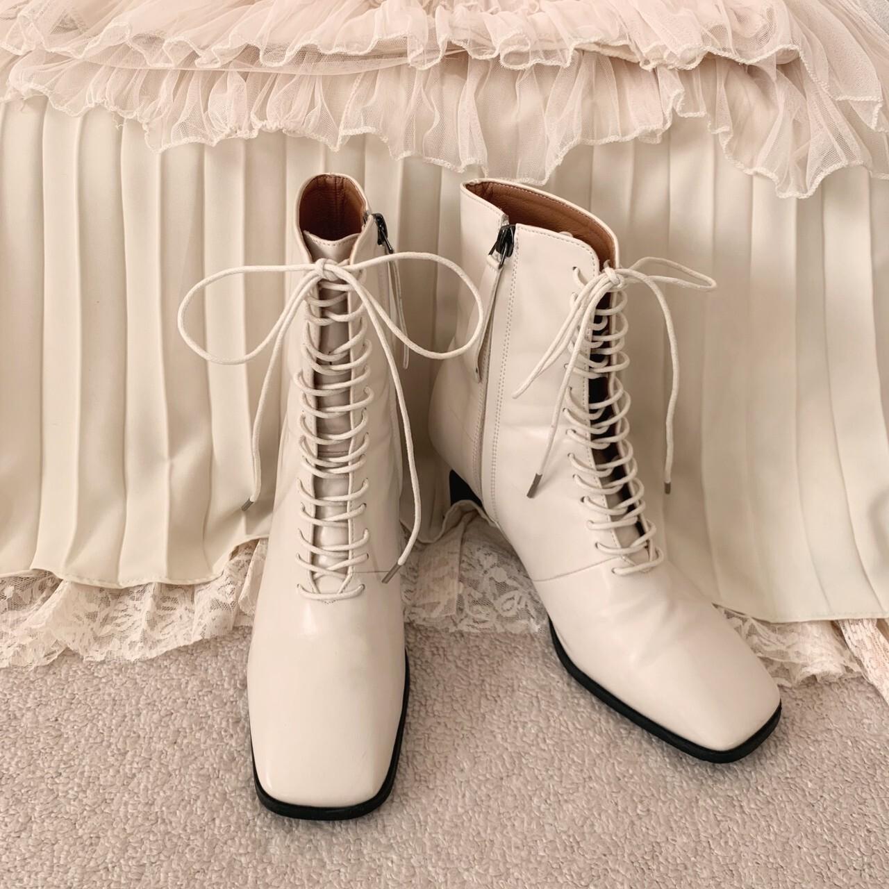 再販【meltie】lace up short boots
