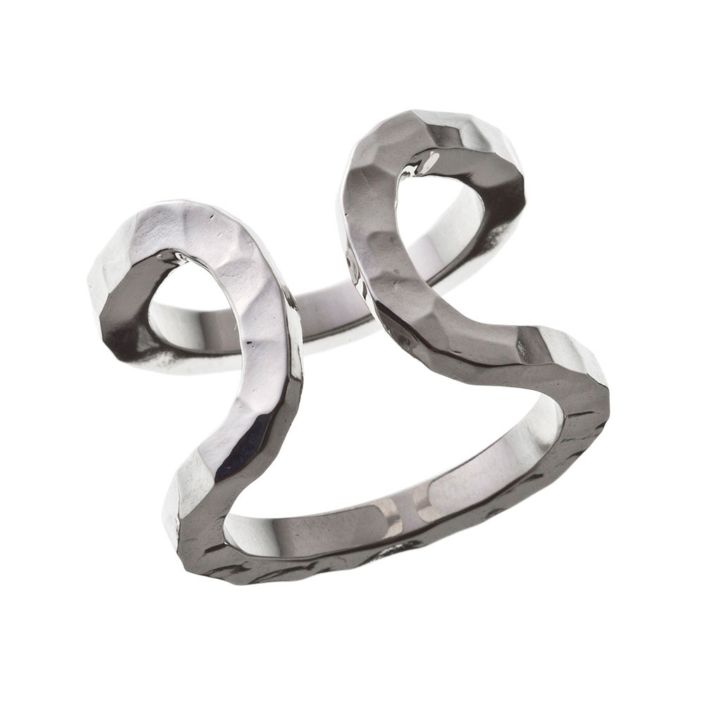 Elenore Jewelry×ARTEMIS KINGS ダブルカフリング シルバーリング 15号~23号 AKELR0002  Double cuff ring Silver ring No. 15-23