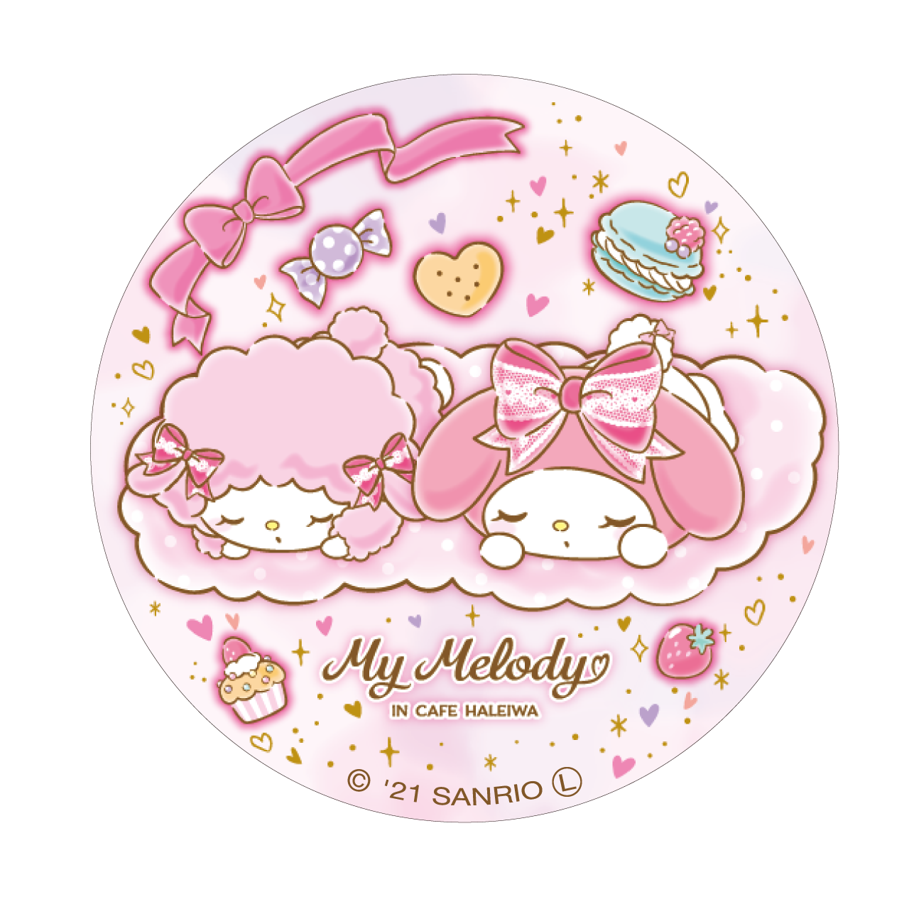 My Melody Cafe 缶バッジ(おひるね)