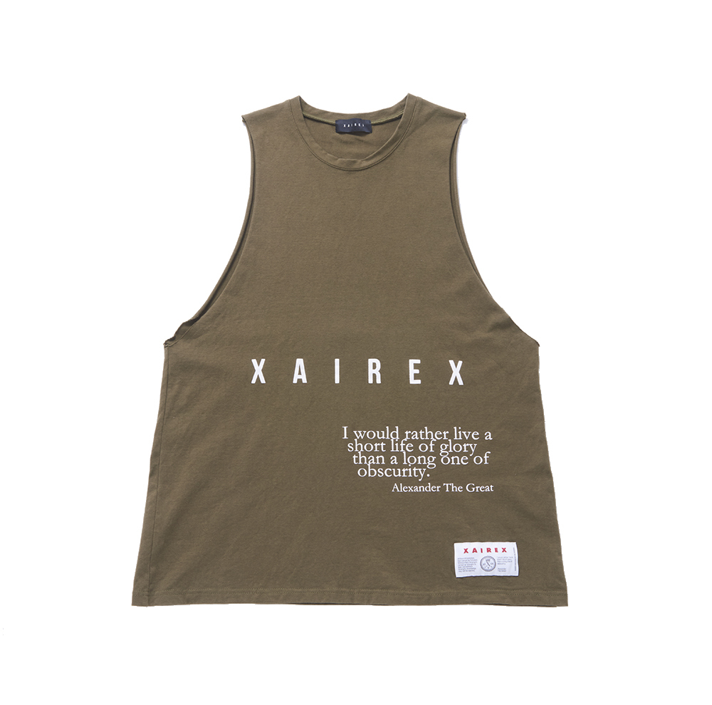 XAIREX LOGO TANK(OLIVE)
