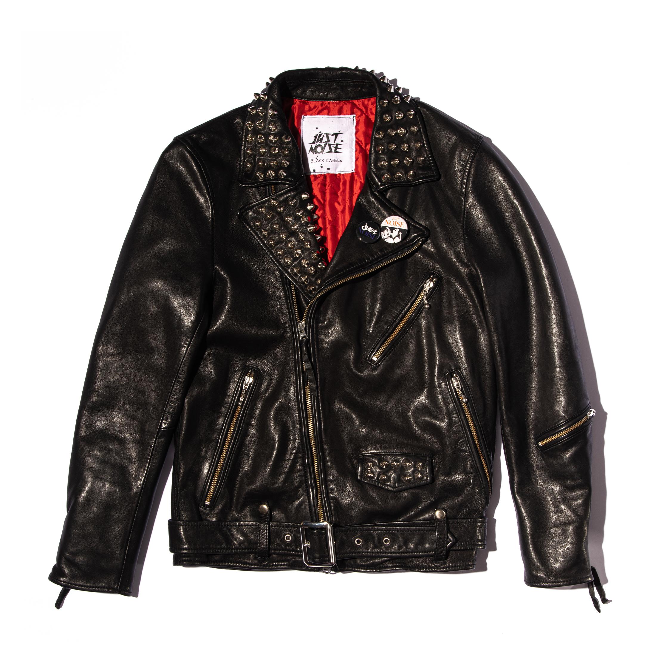 JUST NOISE BLACK LABEL: Leather Jacket-001