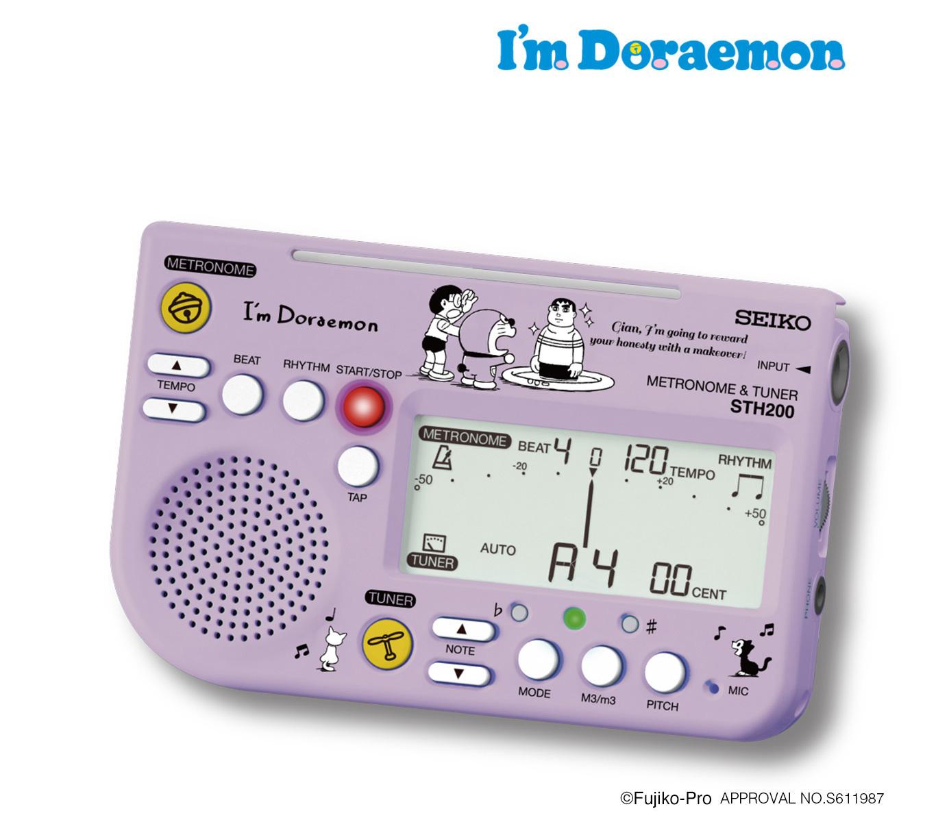 セイコー メトロノーム&チューナー 【ドラえもん限定デザイン】STH200DRLV  I'm Doraemon