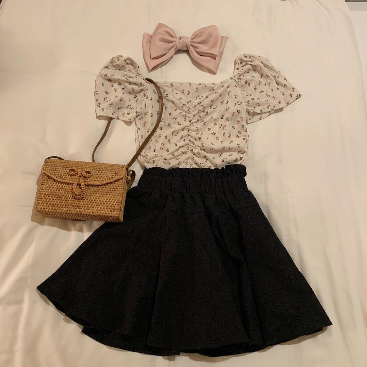 flare mini skirt