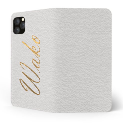Custom Name iPhone with Premium Shrink Leather Case (Limited/9月分数量限定) Book Cover