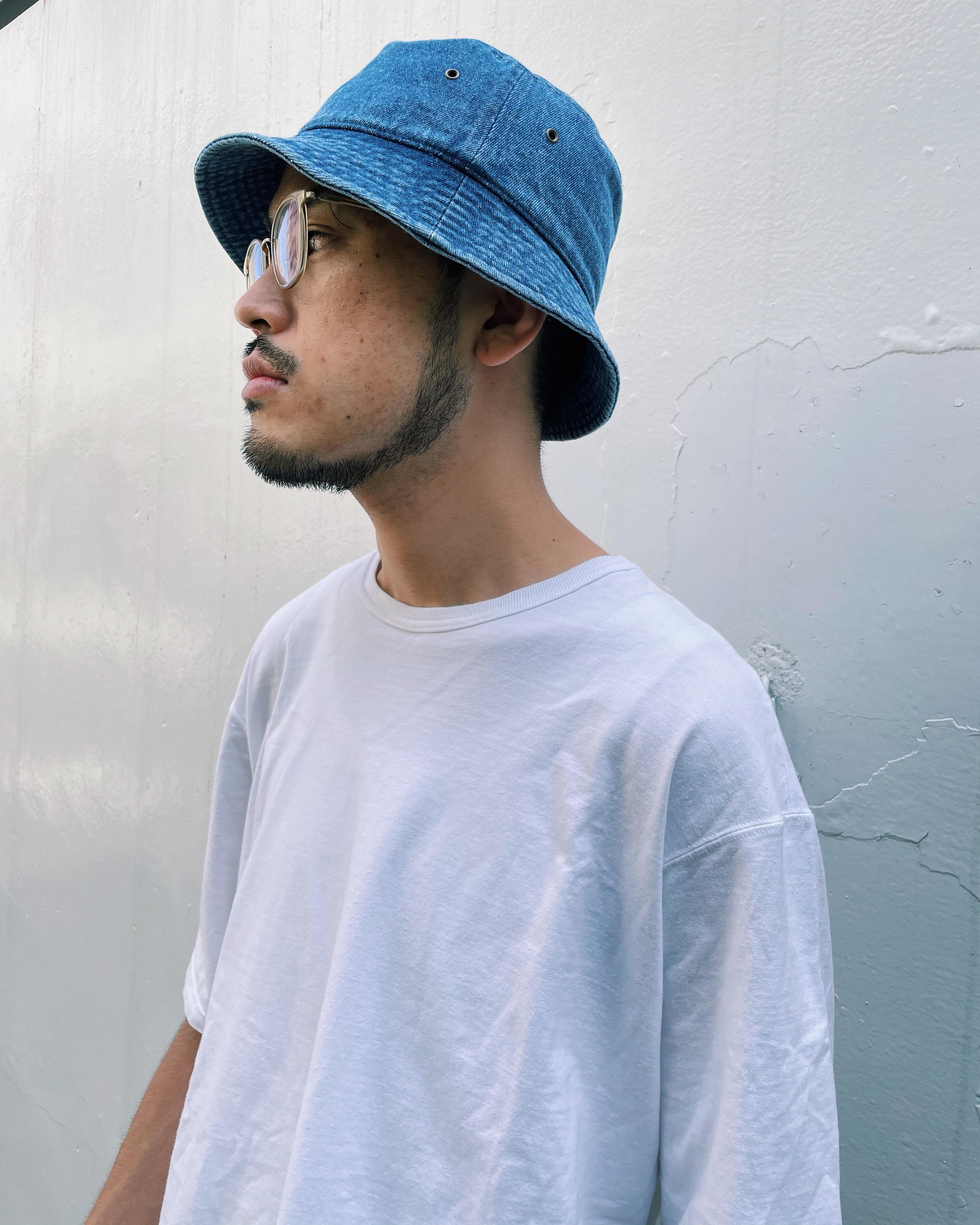 (AC114)newhattan Bucket hat (denim)