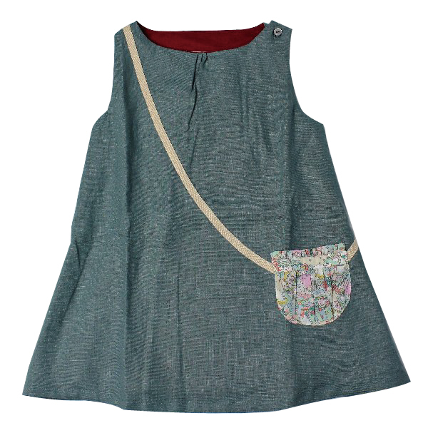 Je suis en cp!  Linen Dress 2Y