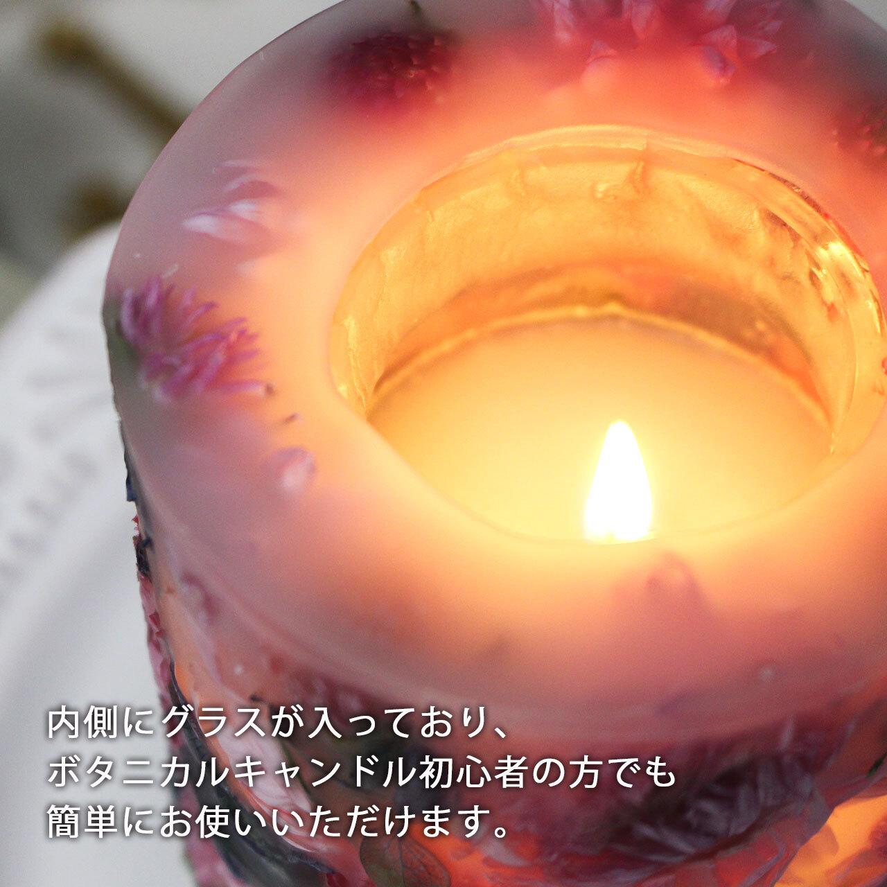 NC319 ギフトラッピング付き☆メッセージ&日付&名入れボタニカルキャンドル ガーデン