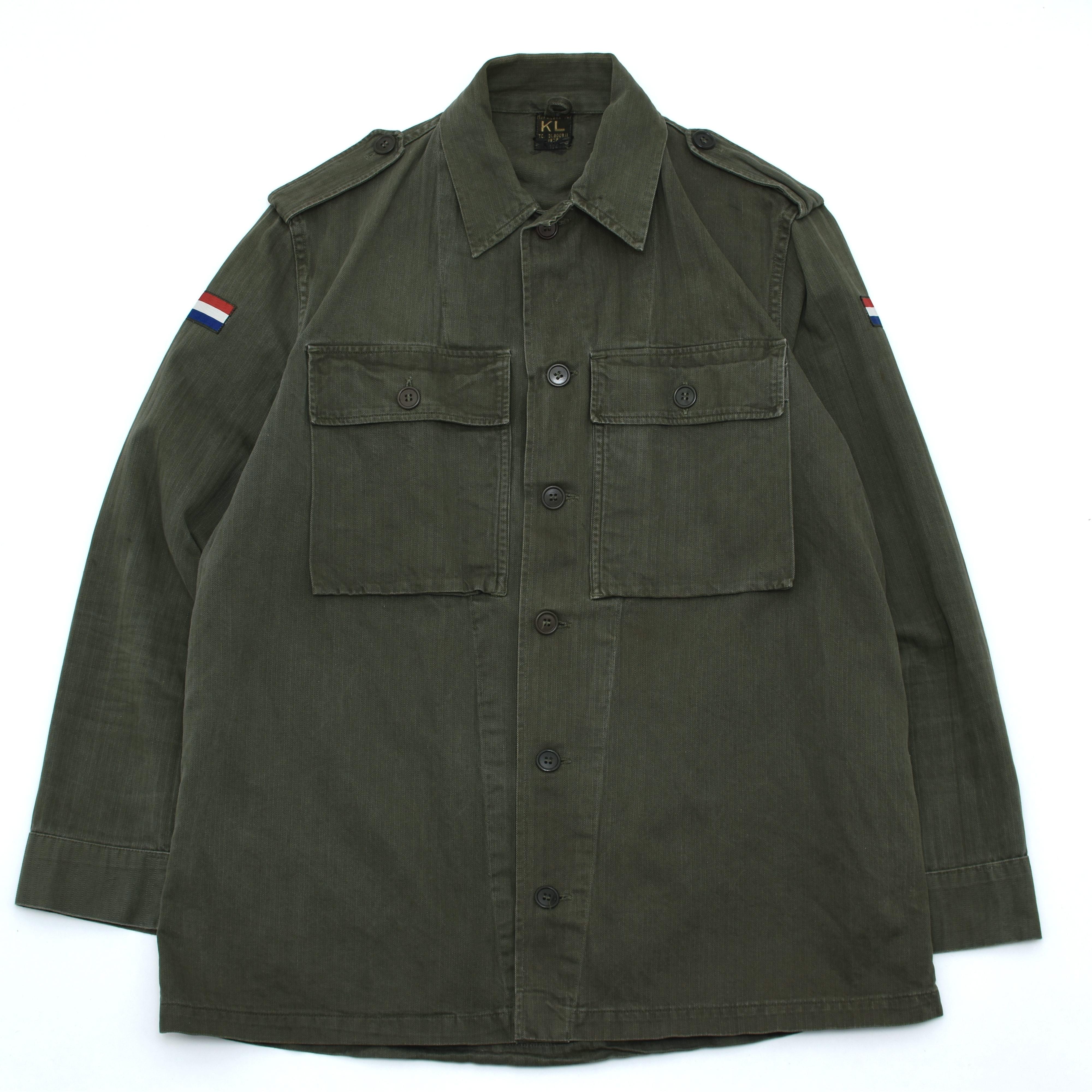 50s Dutch Military HBT Utility Jacket