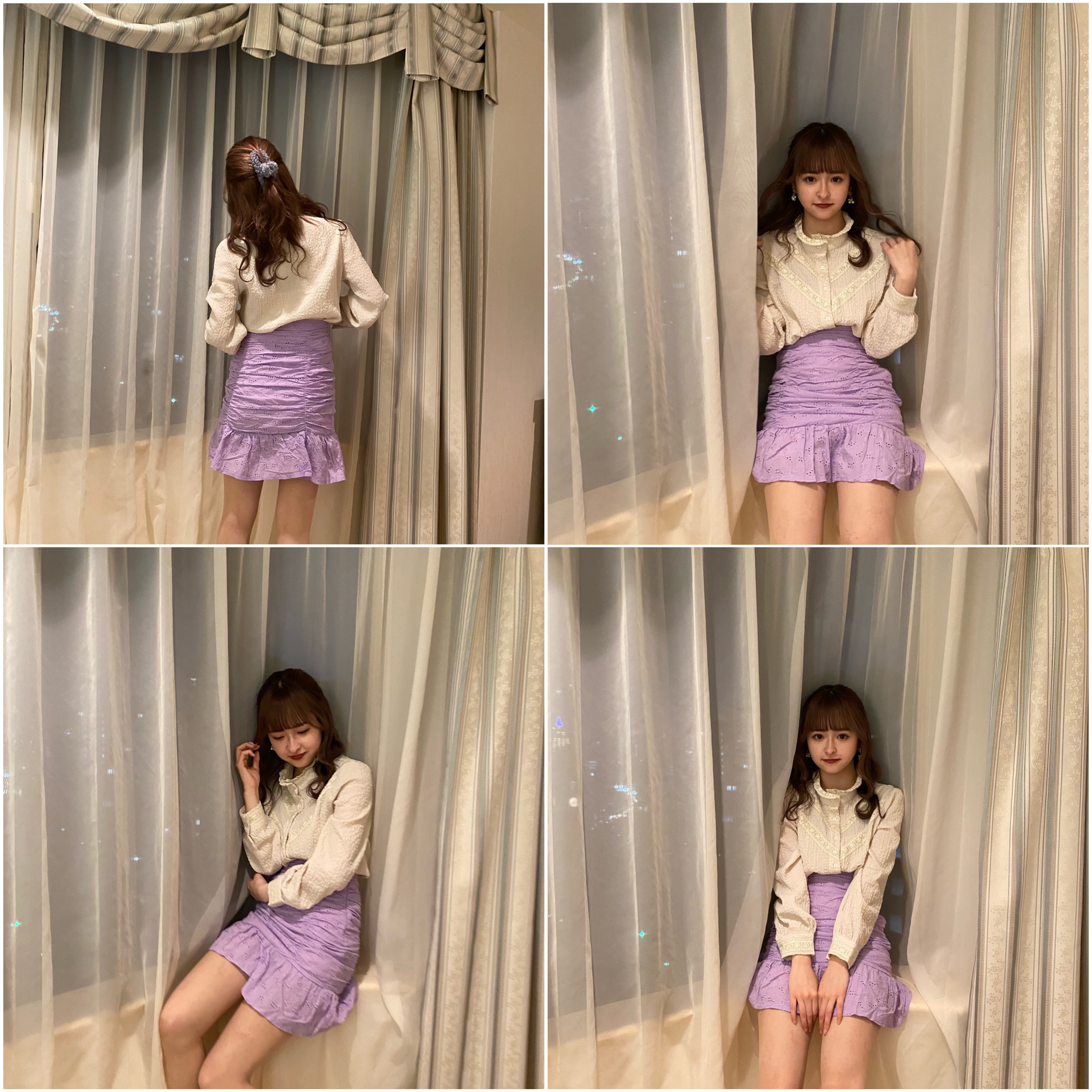 【LAST1】cotton lace mini skirt