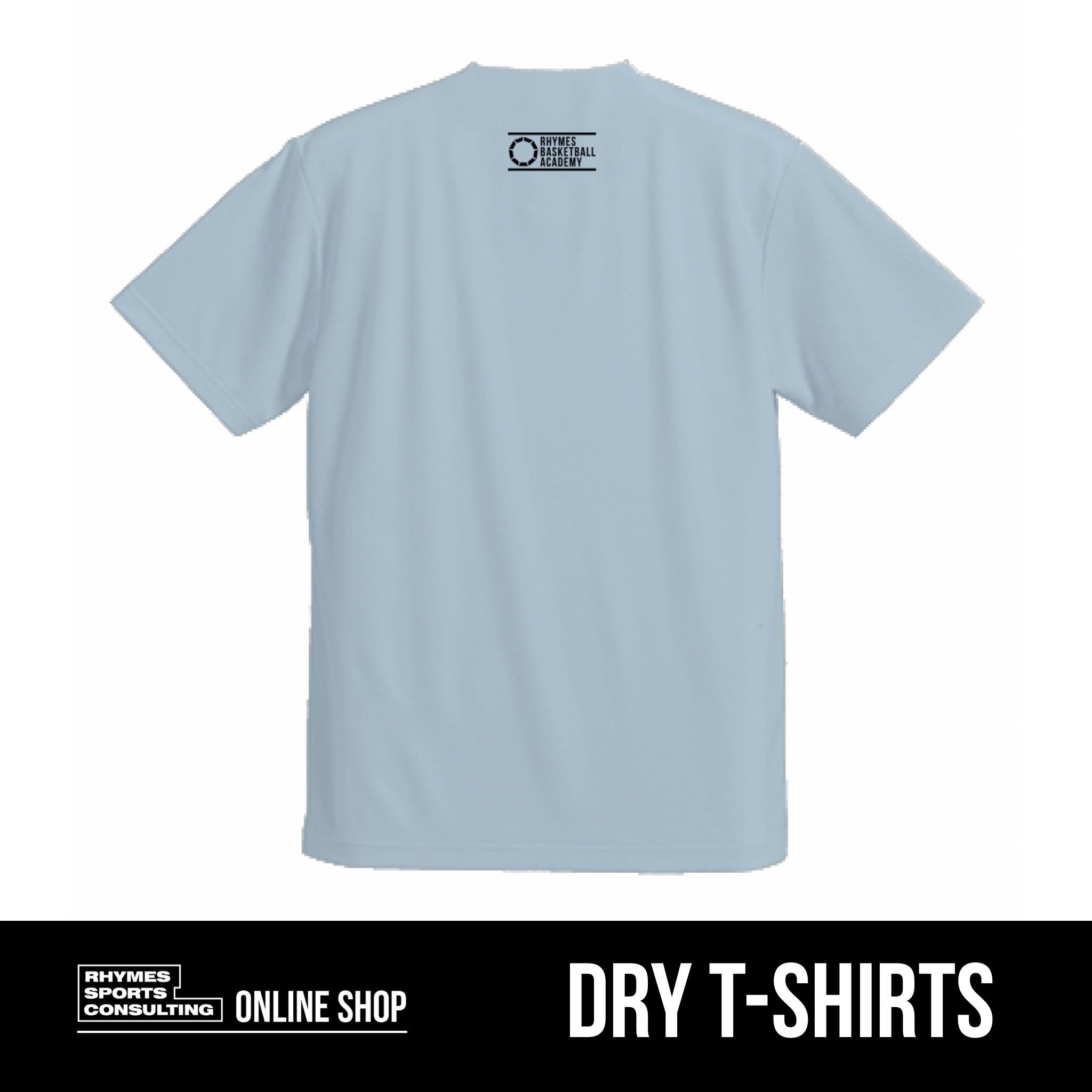 SHOEHURRY! ドライTシャツ(サックス×ブラック)