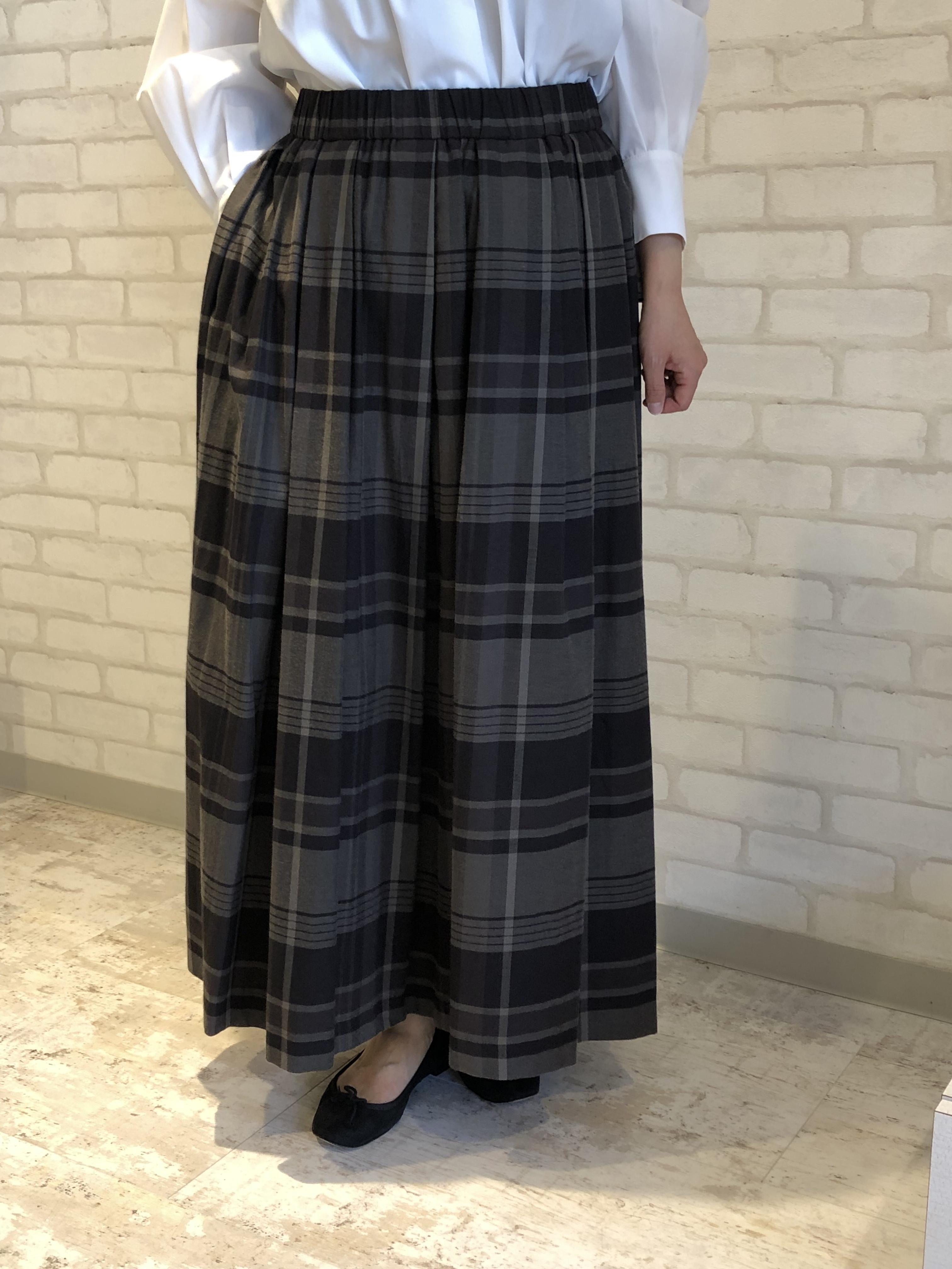 cafune/135608/ロングスカート(グレーチェック)