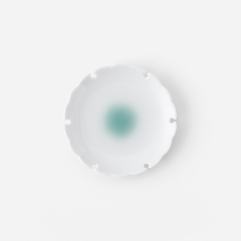 No.65 青磁たまり 雪輪小皿