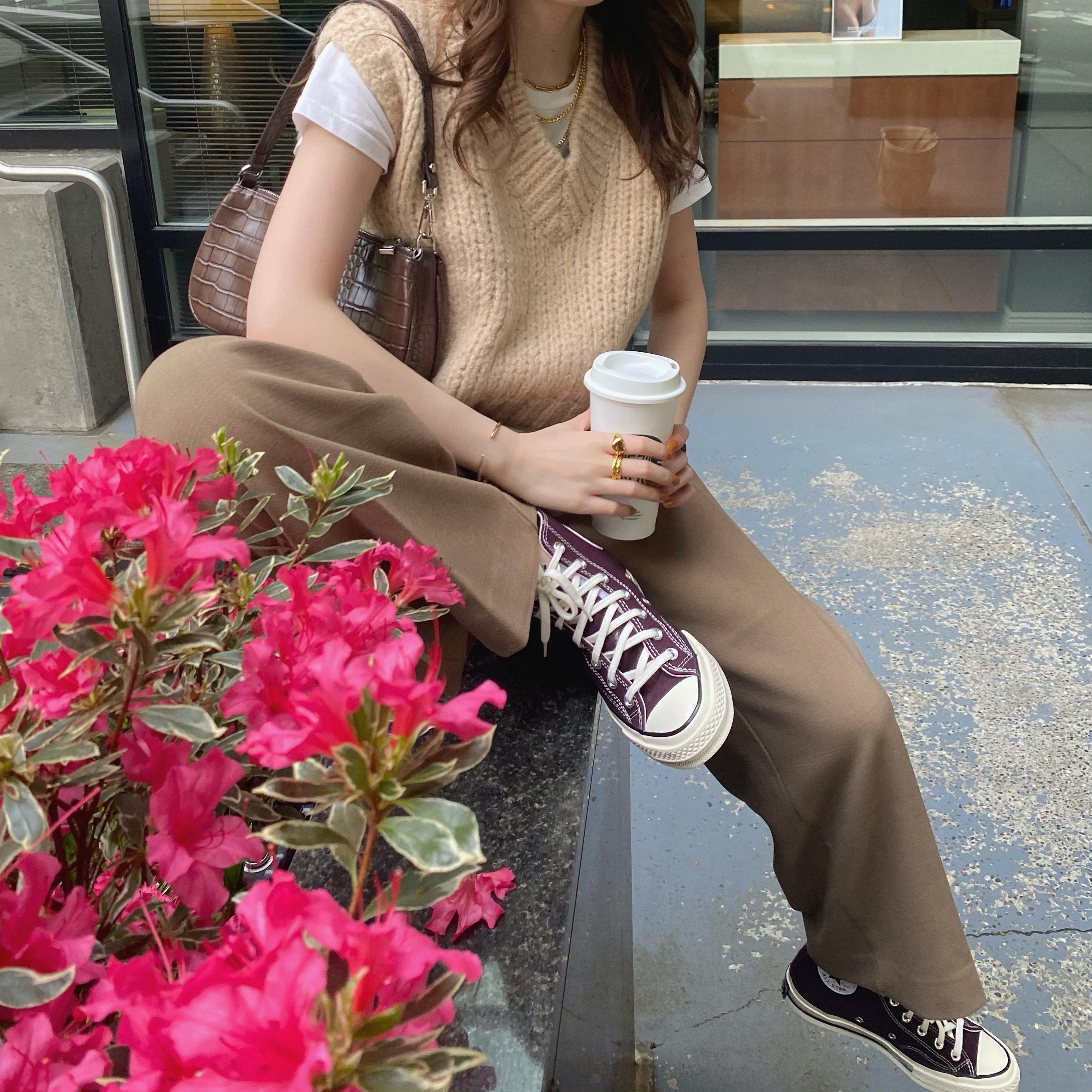 【RE】DAYNYC casual vest(beige)