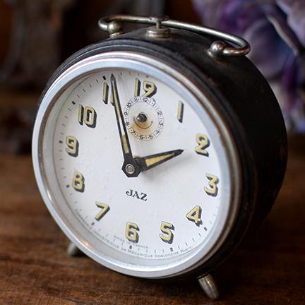 フランス JAZ置き時計 黒