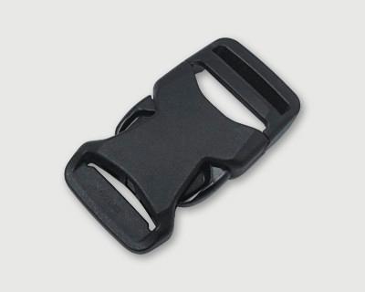 新商品 nifco プラスチックバックル 軽量薄型 片引きタイプ JSRB25A  黒 1個